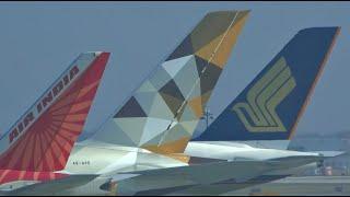 hd jfk to lax inflight wingview planespotting skyteam delta boeing 757 flight across america