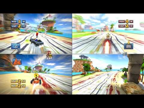 Sonic & Sega all Star Racing spli screen ocean ruin has return |