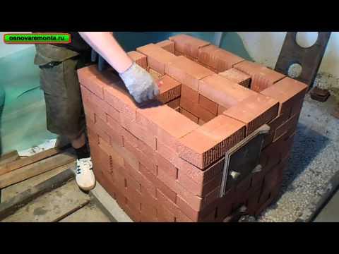Кирпичная печка для дачи на дровах своими руками