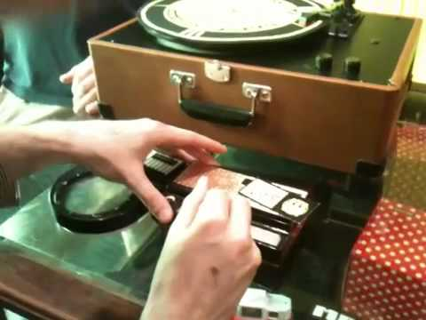 """Neil plays """"Piece of Mind"""" inside of Third Man Records on a Stylophone"""