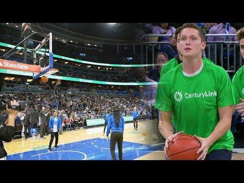 MAKING A $5,000 NBA HALF COURT CONTEST SHOT