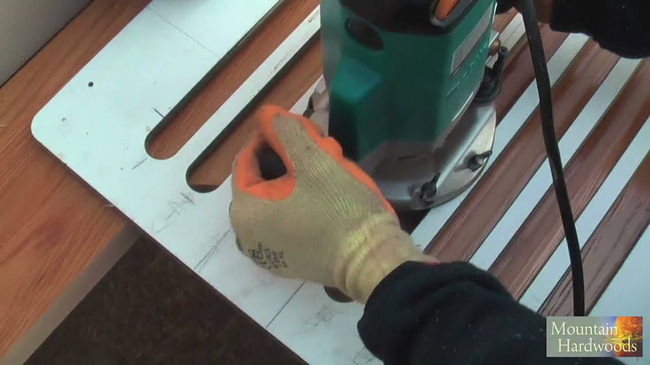 Routing Wooden Worktop Drainage Grooves Hd Youtube