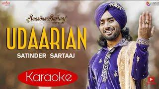 Udaarian Satinder Sartaj Clean Karaoke