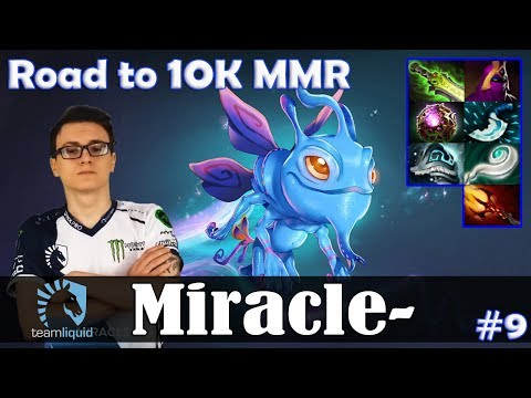 Miracle - Puck MID | Road to 10K MMR | Dota 2 Pro MMR  Gameplay #9