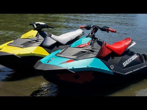 JETSKIING Extreme Fun - New Seadoo SPARK vs Seadoo TRIXX (HD)