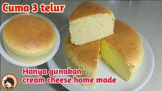 Cara mudah bikin CHEESE CAKE 3 Telur (fersi ekonomis)