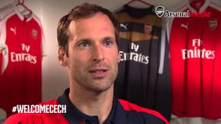 Petr Cech gives first interview since signing for Arsenal