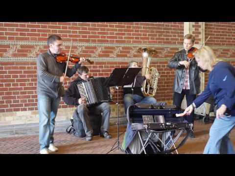 Street Band from Russia Plays Classic Music Rijksmuseum Amsterdam Holland Toccata Sebastian Bach