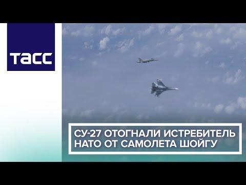 Су-27 отогнали истребитель НАТО от самолета Шойгу