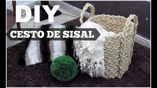 DIY CESTO COM CORDA DE SISAL
