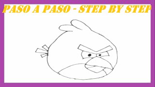 Como dibujar al Pájaro Rojo l How to draw the Red Bird l Angry Birds