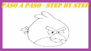 Como dibujar al Pájaro Rojo l How to draw the Red Bird l Angry Birds