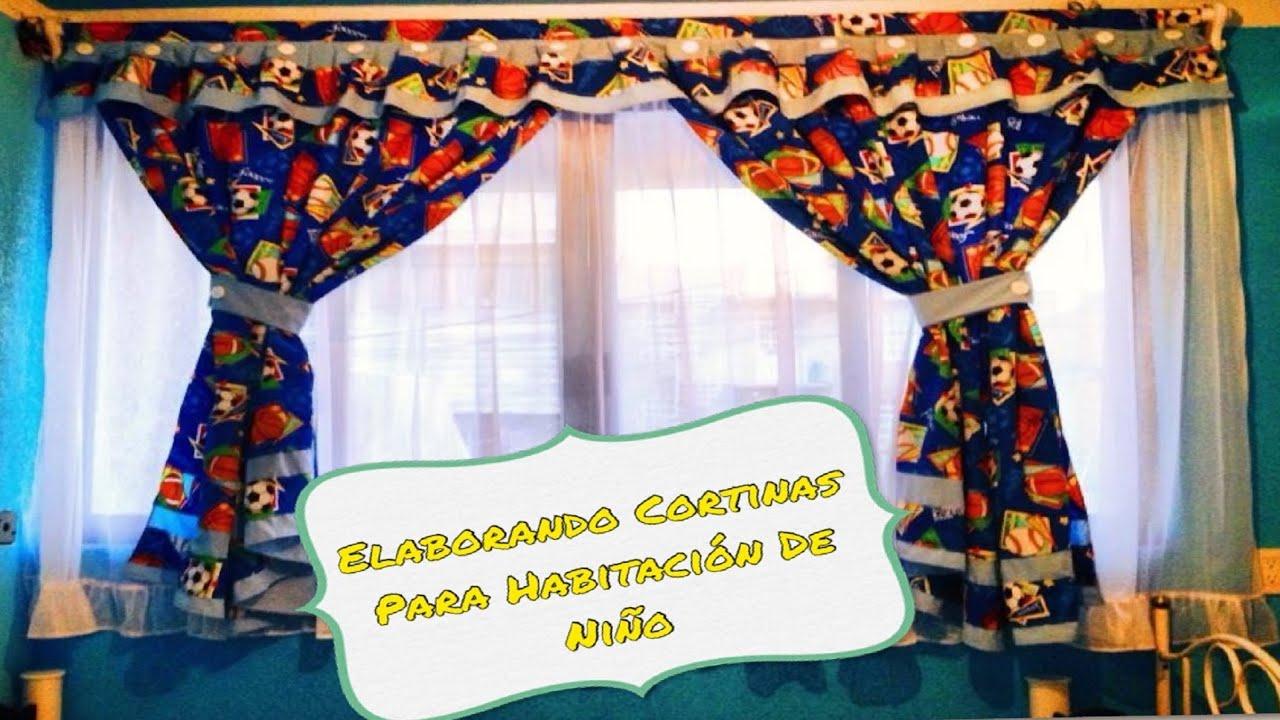 Elaboraci n de cortinas para habitaci n de ni o youtube - Telas para cortinas infantiles ...