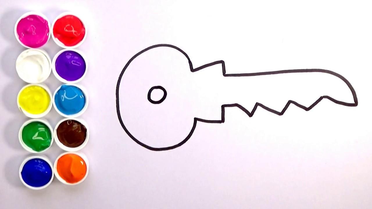 Aprende Como Dibujar Una Llave De Colores Dibujos Para Niños Amiguitos123