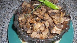 Простые рецепты, шампиньоны/Simple recipes, champignons