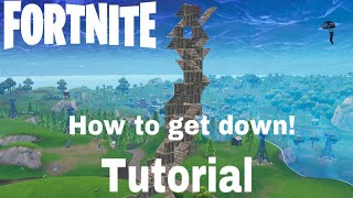 How to get down from high builds. Waterfalls. Fortnite