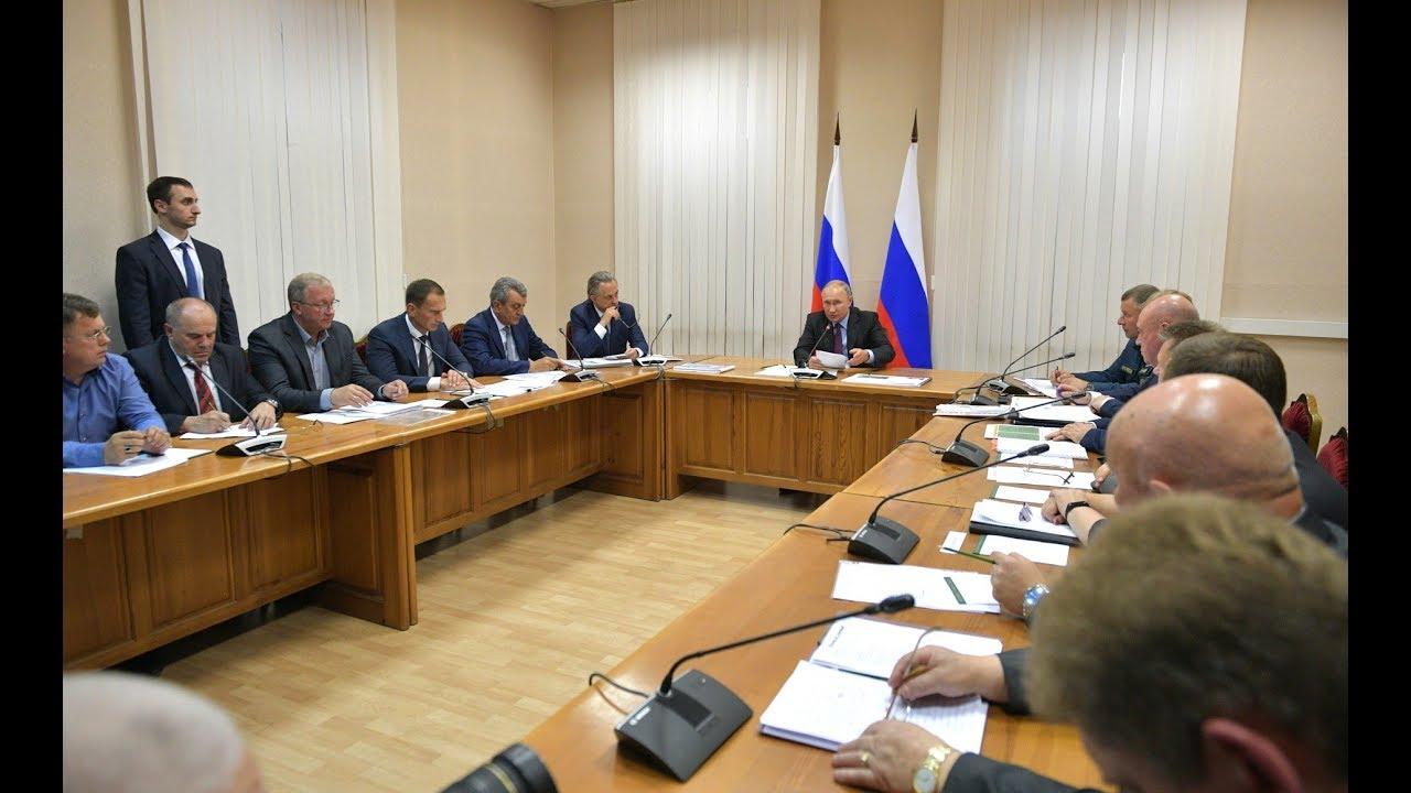 Совещание о жилищном обеспечении граждан, пострадавших в ходе паводка в Иркутской области