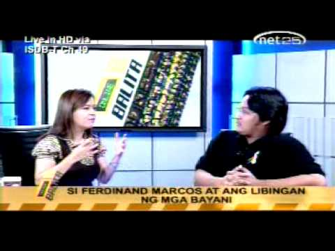 XIAO CHUA INTERVIEW WITH ARLYN DELA CRUZ ON MARCOS BURIAL IN NET 25, 14 April 2011