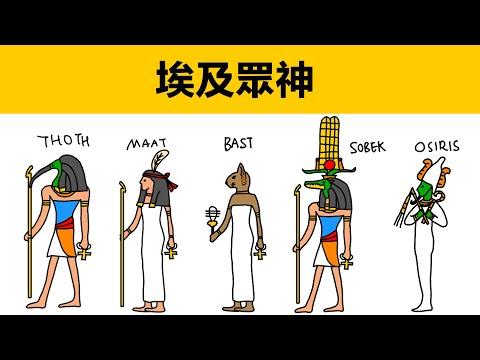 一隻視頻說清埃及眾神|九柱神|動畫科普|埃及神話故事|太陽神拉|鱷魚神|埃及創世神話|埃及神話|神話故事|埃及最重要的神|木乃伊神話|埃及傳說|埃及故事|古埃及|埃及神都有誰|埃及神簡介|拉|荷魯斯