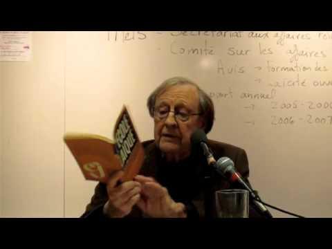 Guy Rocher : Laïcité et Modernité - Montréal 2010