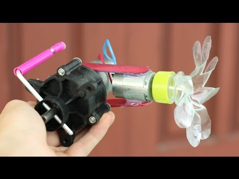 How to make a Powerful Hand Crank Fan