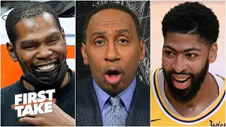 Stephen A. predicts Nets vs. Lakers in the NBA Finals if both teams stay healthy | First Take