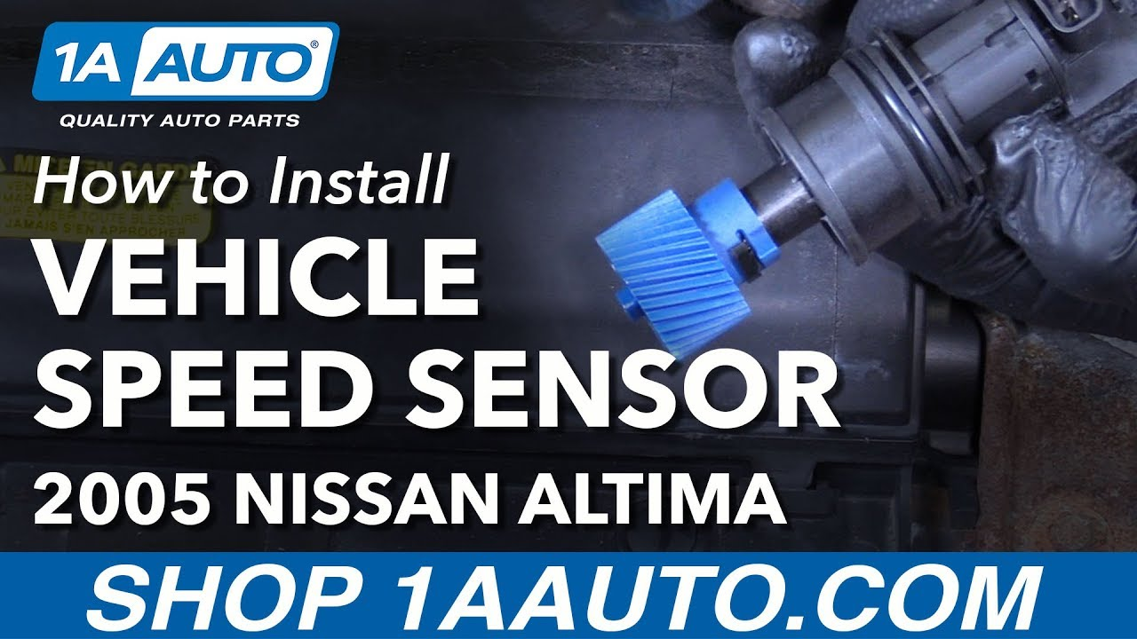 how to replace vehicle speed sensor 02 06 nissan altima l4 2 5l [ 1280 x 720 Pixel ]