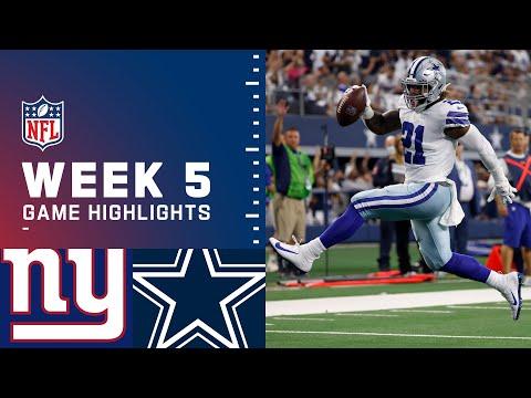 Giants vs. Cowboys Week 5 Highlights | NFL 2021