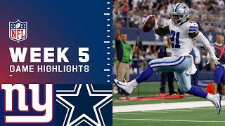 Giants vs. Cowboys Week 5 Highlights  NFL 2021