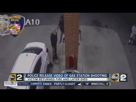 Man shot, killed while pumping gas in Baltimore