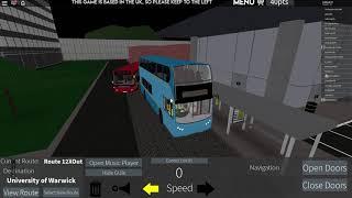 Route 12X, Coventry - Warwick Uni | Roblox Bus Simulator