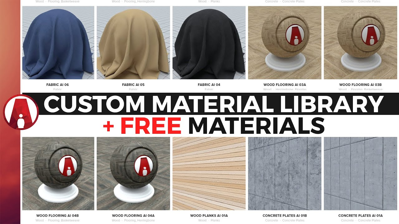 Custom Material Library + FREE Download Vray Materials