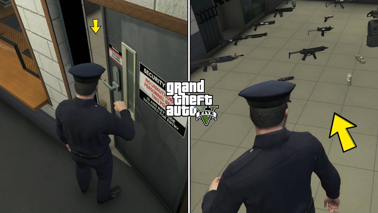 Download How To Unlock the Police Armory Room in GTA 5! (UNLIMITED WEAPONS)