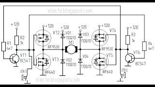 Реверс мощного электродвигателя постоянного тока(Усовершенствованная схема для реверса мощного электродвигателя постоянного тока. Подробнее на странице:..., 2016-12-04T10:19:02.000Z)