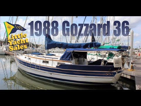 1988 Gozzard 36 Sailboat for sale at Little Yacht Sales, Kemah Texas