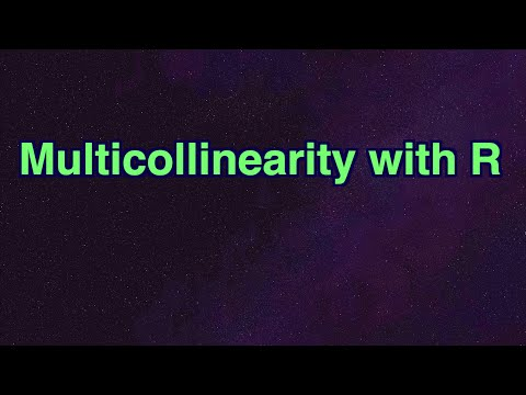 Multicollinearity with R