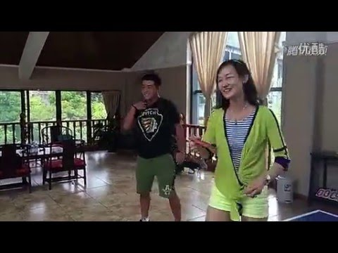 Wang Hao teaches his wife to play ping pong