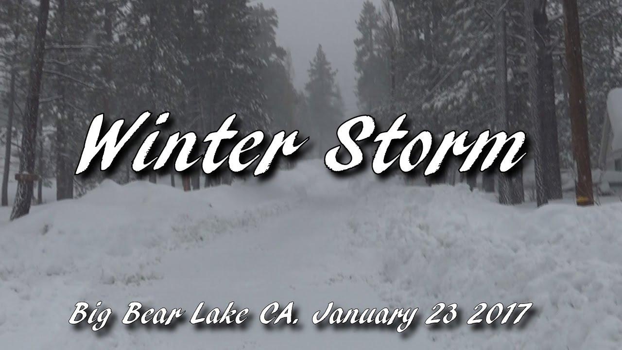 winter storm big bear lake ca 2017 youtube. Black Bedroom Furniture Sets. Home Design Ideas