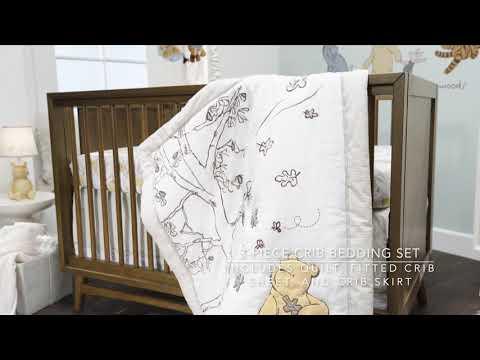 Storytime Pooh 3-Piece Crib Bedding Set