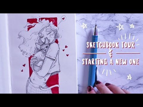 Sketchbook Tour #12 + breaking into a new one!