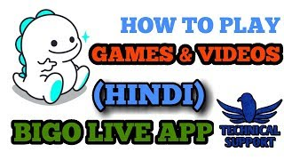 How to play games and videos in bigo live app.