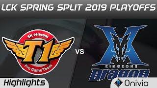 SKT vs KZ Highlights Game 2 LCK Spring 2019 Playoffs SK Telecom T1 vs KingZone DragonX LCK Highlight