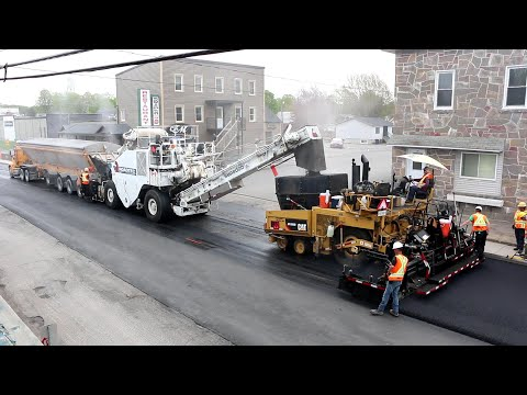 Road Work -  New Asphalt - Heavy Equipment - Sight & Sound - Relaxing
