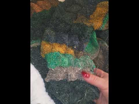 Печворк спицами. Японская пряжа на бобинах Noro Flower Bed 1449