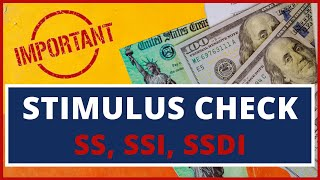 Stimulus Check Dates!: Social Security, Ssi, Ssdi (irs Non Filers Stimulus Payment) Ssa Update 05/08