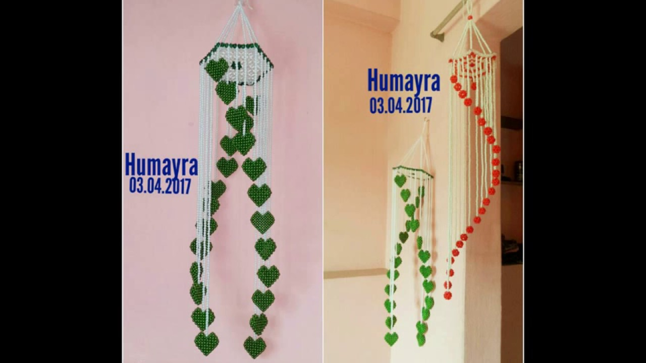 How To Make Beaded Wind Chime Wall Hanging