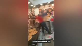 Pizza Delivery Man Loses It & Destroys The Spot After Being Fired!