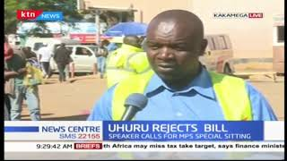 Kakamega residents react on rejection of financial bill 2018