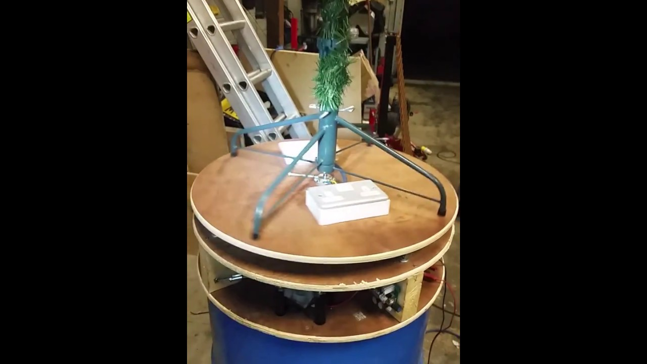 DIY Rotary Christmas Tree Stand