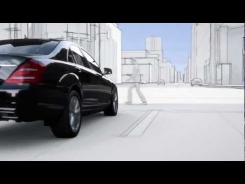 Mercedes S Class 2013 Pre-Safe Brake Pedestrian Recognition Commercial Carjam TV 2013